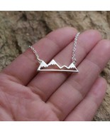 """MOUNTAINS NECKLACE 1"""" Pendant Outdoor Camping Mountainscape Wilderness A... - $7.95"""