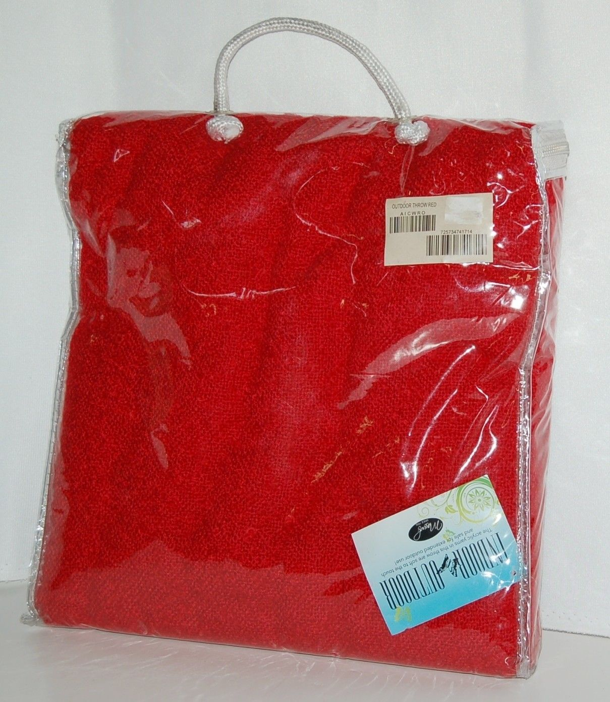 Manual AICWRO Indoor Outdoor Acrylic Throw Blanket Color Red