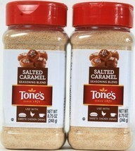 2 Tone's 8.75 Oz Salted Caramel Seasoning Blend Use With Sweets Chicken Drinks - $19.99