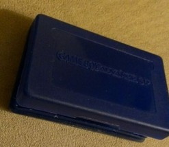 Blue Plastic Cartridge Case Nintendo GameBoy Advance GBA GAMES Dust Cover Nice - $3.95