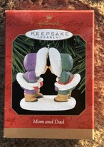 Hallmark Keepsake Ornament Mom and Dad Eskimo Couple 1999 Christmas - $10.84
