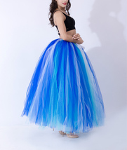 Summer Multi-Color Puffy Tulle Skirt Rainbow Tutu Costume Maxi Petticoat-OneSize image 2