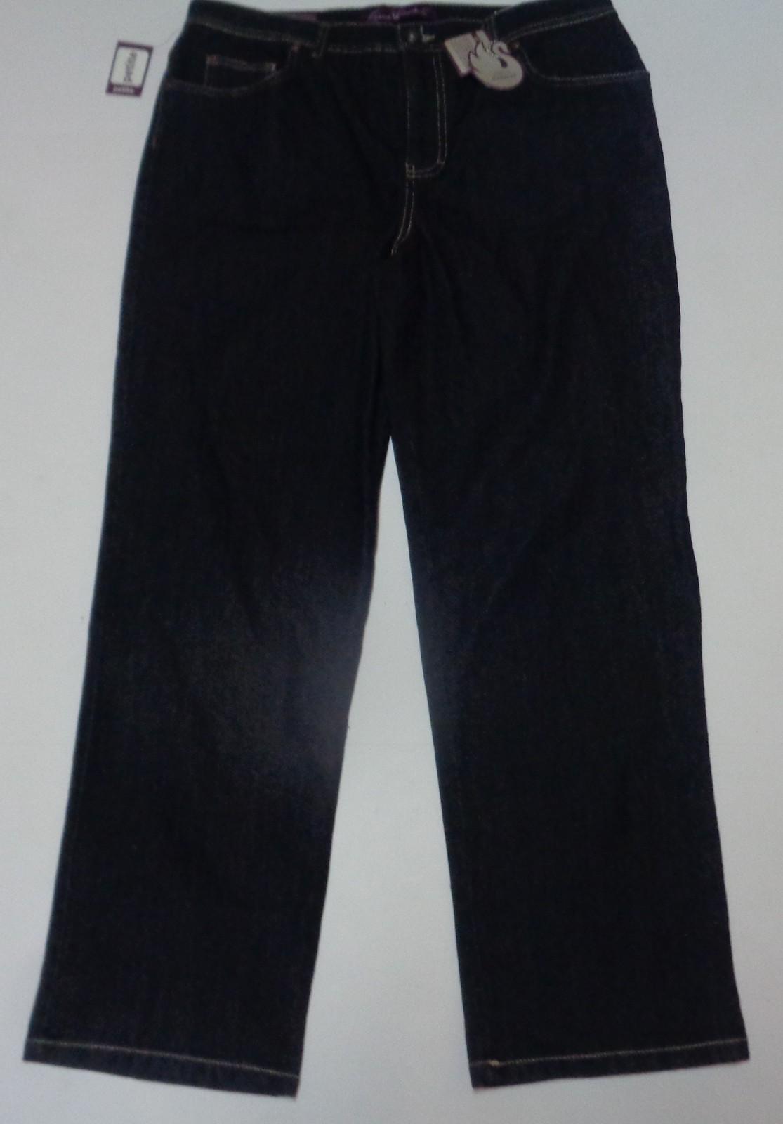 Gloria Vanderbilt Women's Blue Jeans NWT Sz 16P Stretch Classic Fit