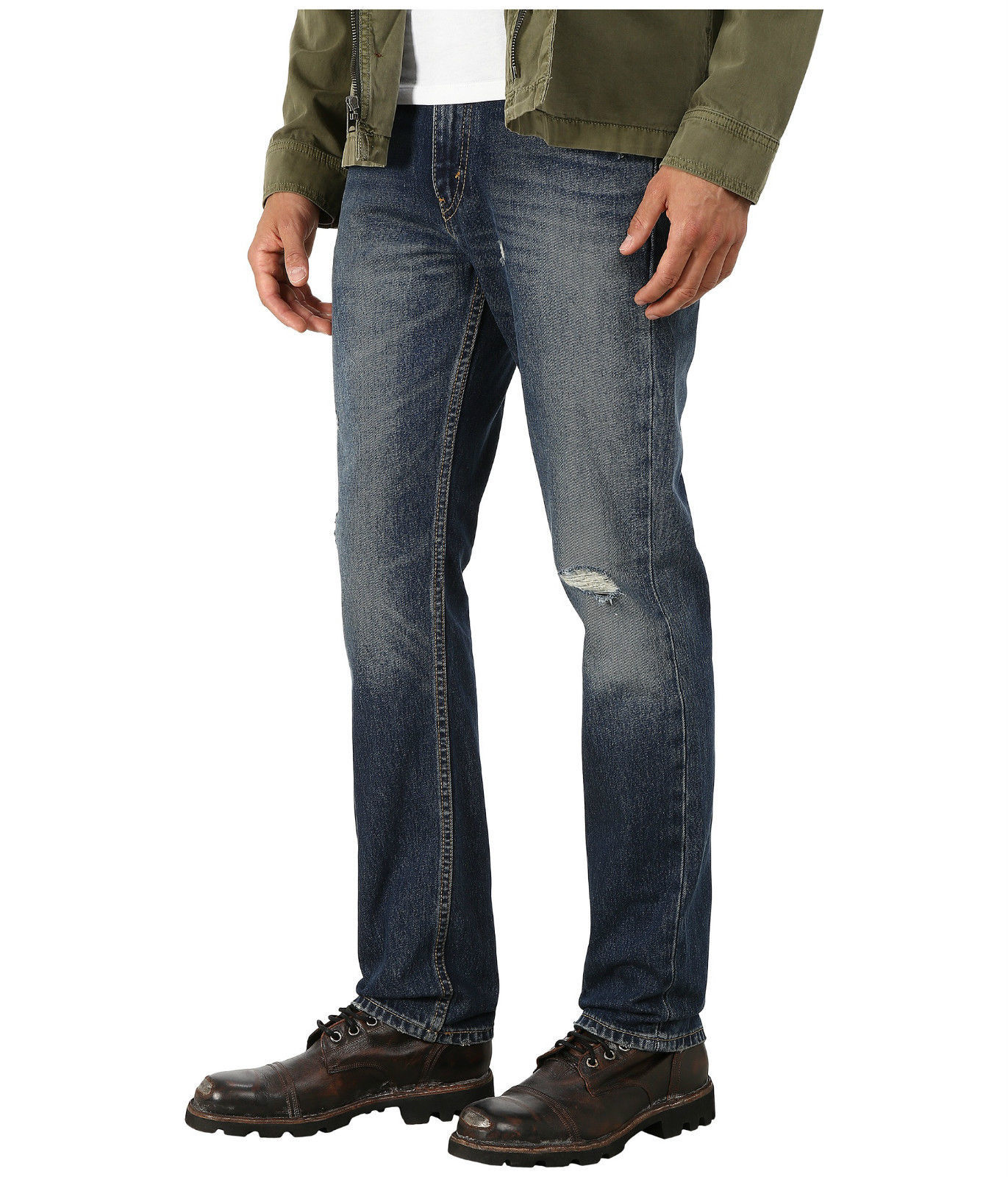 NEW LEVI'S STRAUSS 511 MEN'S SLIM FIT PREMIUM DISTRESSED DENIM JEANS 511-1808
