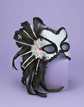 Half Mask Karneval For The Carnival Halloween Or Masquerade Party Costume - $15.99