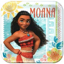 Disney Moana Birthday Lunch Dinner Plates 8 Per Package Party Supplies NEW - $5.89