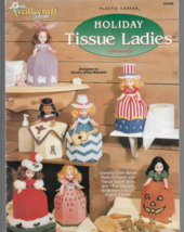 Plastic Canvas Pattern Booklet-7 Holiday Tissue Ladies-Stitched  on 7 Co... - $5.86