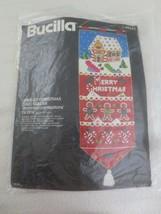 "BUCILLA Christmas Confections CHRISTMAS CARD HOLDER Kit #48643 - 11"" x 2... - $14.85"