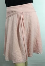 Ralph Lauren Purple Label Collection Silk Skirt 10 Pink Lined New - $497.87