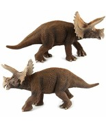 Big Dinosaur Simulation Triceratops Toy Model Soft PVC Plastic Animal Co... - $16.75+