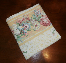 Double Flat Sheet Flowers with Border and Eyelet Trim Spring - $11.64