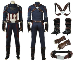 New Captain America Cosplay Avengers Infinity War Costume Superhero Outfits  - $678.18