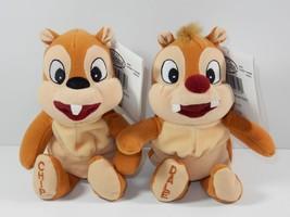 "Disney Store Chip & Dale Chipmunks 8"" Bean Bag Plush w/Tags - $14.01"