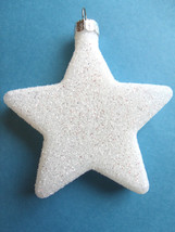 White Glitter Star Ornaments Tree Patriotic Fourth of July 4TH Flag Color  - €3,41 EUR