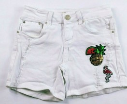 Indigo Rein Junior's Forever Booty Jean Shorts Size 1 White Distressed S... - $16.83