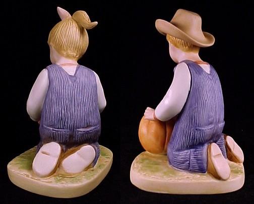 Homco Denim Days 1985 Boy Girl Figurines Home Interior