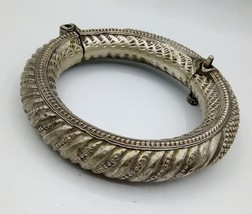 VINTAGE JEWELRY OLD SILVER FOOT BRACELET ANKLET KADA TRIBAL ANTIQUE JEWE... - $470.24
