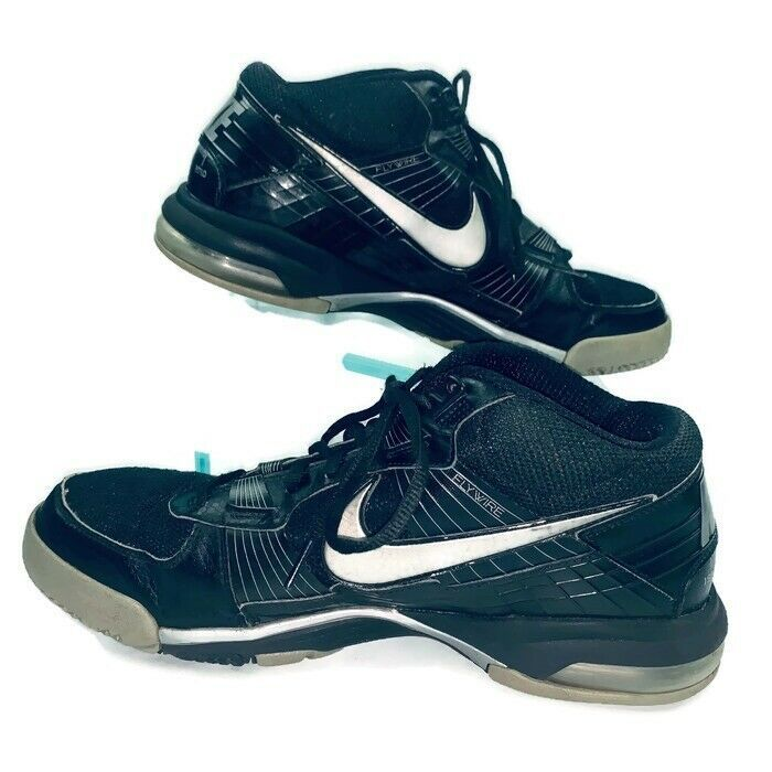 Nike BO JACKSON Trainer SC 2010 Shoes Black/Silver Size 11.5 #386484-001