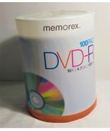 Memorex DVR-R 16X/4.7GB/120 Min. 100 pack NEW - $31.00
