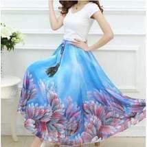 Bohemian Printed Long Chiffon Women Maxi Skirt image 5