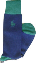 POLO RALPH LAUREN BLUE LABEL MEN'S SOCKS WOOL BLEND MADE IN JAPAN BLUE/G... - $144.65