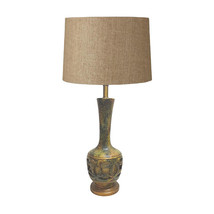 Mid-Century Green Ceramic Table Lamp, Base Lights Up - $1,379.00