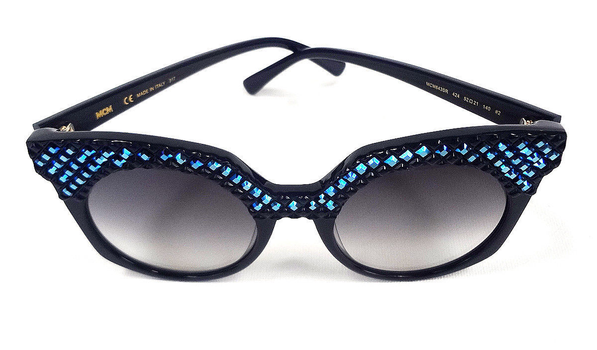10ed1989138a0 MCM Women s Sunglasses MCM643SR Blue 52-21-140 MADE IN ITALY ...