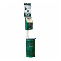 DOGIPOT Green Aluminum Pet Station with Litter Pick Up Bags - Head Pak - $433.14
