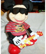 Disney Rock Star Mickey Mouse Fisher Price 2010 Animated Dancing, Singin... - $21.00
