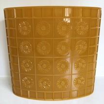Bathroom Trash Can Gold Lucite Plastic Vtg Starburst Mid Century Waste B... - $39.59