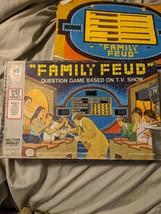 Vintage 1977 Milton Bradley Family Fued Trivia Board Game Complete - $22.95