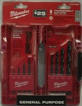 Milwaukee 48-89-2805 8pc Thunderbolt Black Oxide Drill Bit Set - $7.92