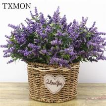 1 Bunch Foam Flower Lavender Artificial Flower Bouquet For Home Wedding ... - $4.55