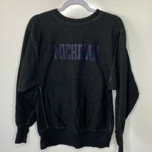 Champion Crew Neck Sweatshirt Men's L Black Michigan Wolverines Reverse ... - $54.45