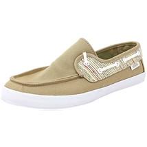 VANS Chauffette Khaki/White Comfort Slip On Surf Siders Womens Size 10 - $31.95