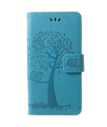 For Samsung Galaxy S9 Imprint Tree Owl Wallet Stand PU Leather Phone Cov... - $4.87