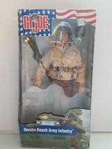 "GI JOE 12"" OMAHA BEACH ARMY INFANTRY FIGURE HASBRO 2001 Collectable  - $118.80"