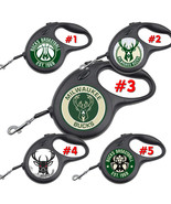 Milwaukee Bucks Retractable Dog Leash tangle free upto 110 lb pet leash #1 - $22.30+
