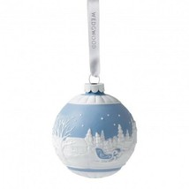 Wedgwood 2015 Sleigh Ride Blue Christmas Ornament New In Box # 40009016 - $42.92