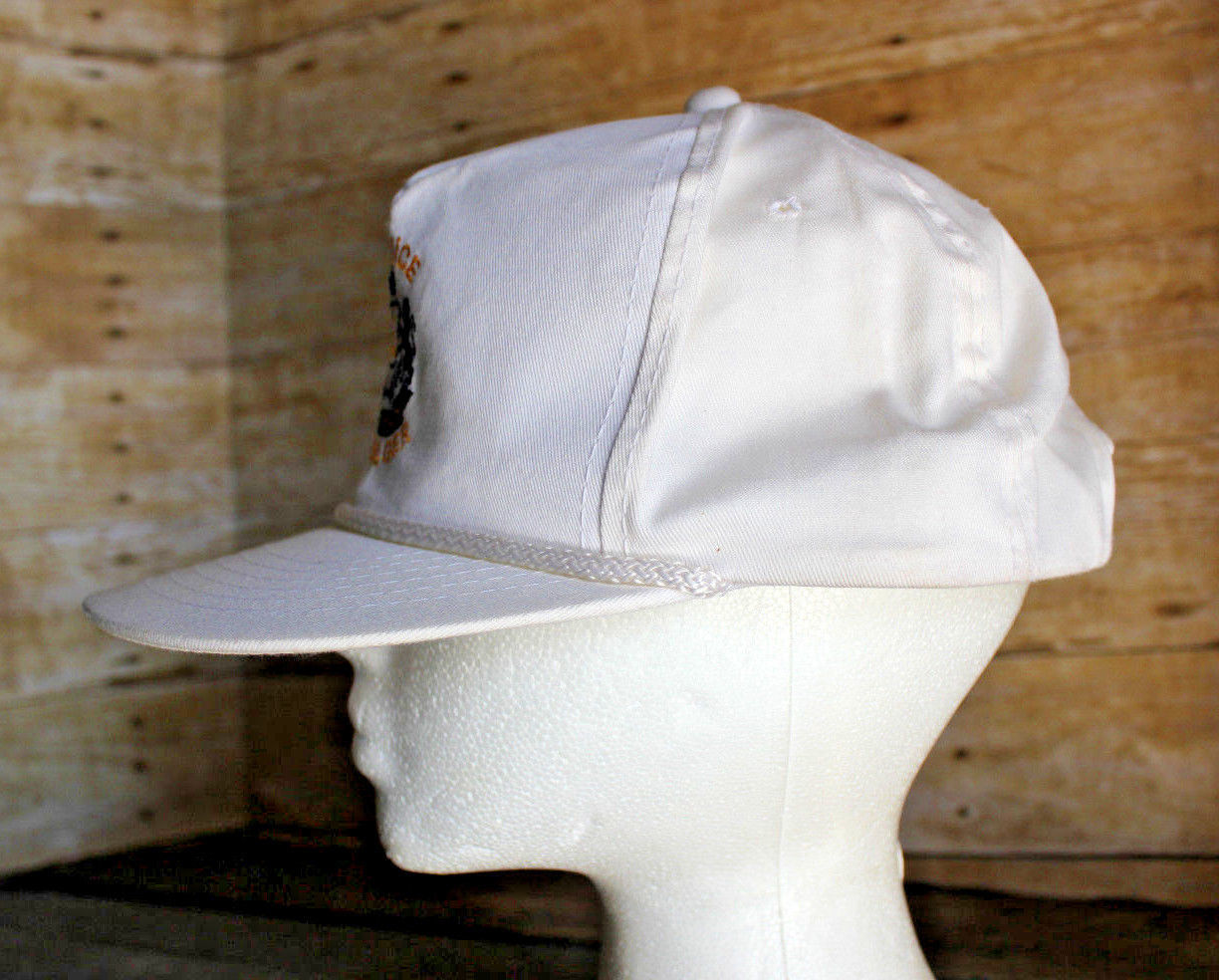 Vintage ELECTROLUX Service Manager Trucker Hat White Snapback Employee Cap