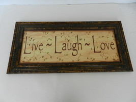 Live Love Laugh Framed Wall Hanging Sign  shf2 - $19.99