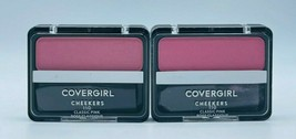 2 x Covergirl 110 CLASSIC PINK Cheekers Blush New Factory Sealed Free Sh... - $10.99