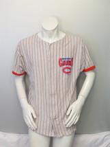 Montreal Canadiens Baseball Jersey - Pin Stripe by Ravens Knit - Men's Medium - $65.00
