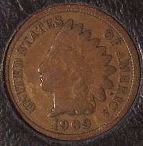 1909 Indian Head Cent Good+ #0232 - $9.59