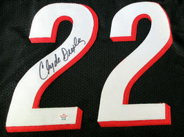 CLYDE DREXLER / NBA HALL OF FAME / AUTOGRAPHED TRAIL BLAZERS CUSTOM JERSEY / COA image 3