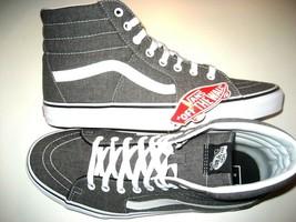 be8be647e06 Vans Mens Sk8-Hi Micro Herringbone Grey True White Canvas Skate shoes Si.