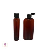 25 Plastic Bottles PET Amber Liquid Bottles Black Flip Top Caps 4 oz. #9... - $42.95