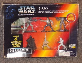 1995 Kenner Star Wars Die Cast Metal Collectible Figures 6 Pack New In Package - $39.99