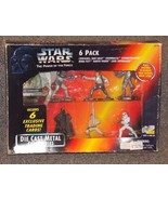 1995 Kenner Star Wars Die Cast Metal Collectible Figures 6 Pack New In P... - $39.99