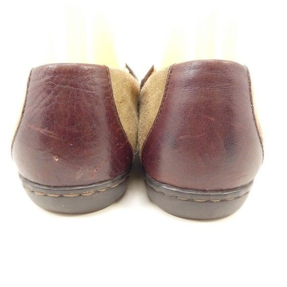 Born Mary Jane Flats Brown Leather Womens Size 7.5